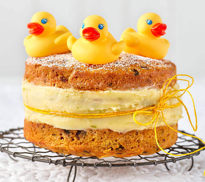 Baby Shower food ideas - Carrot Duckling Cake