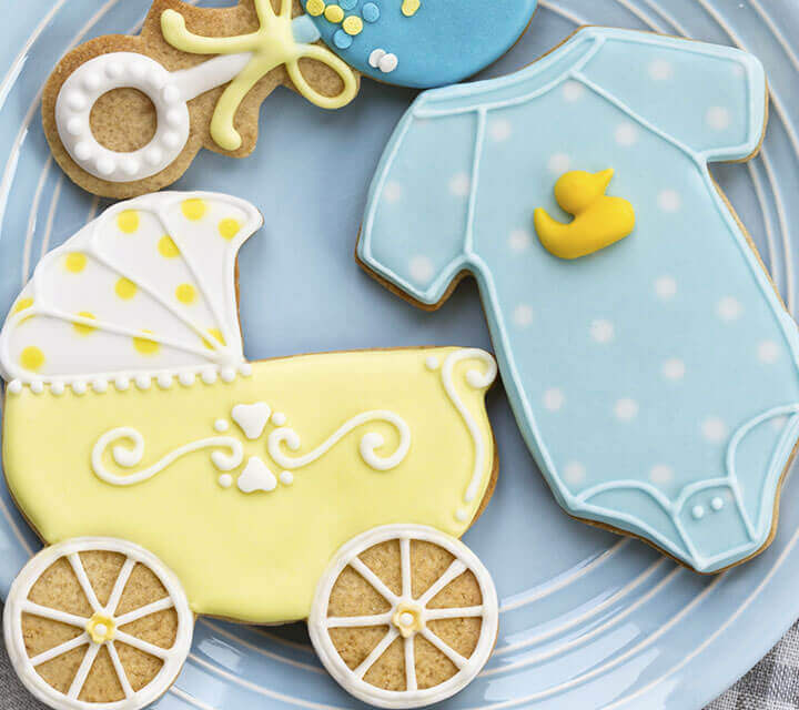 Baby Shower Decorations - Stroller Savvy Biscuits!