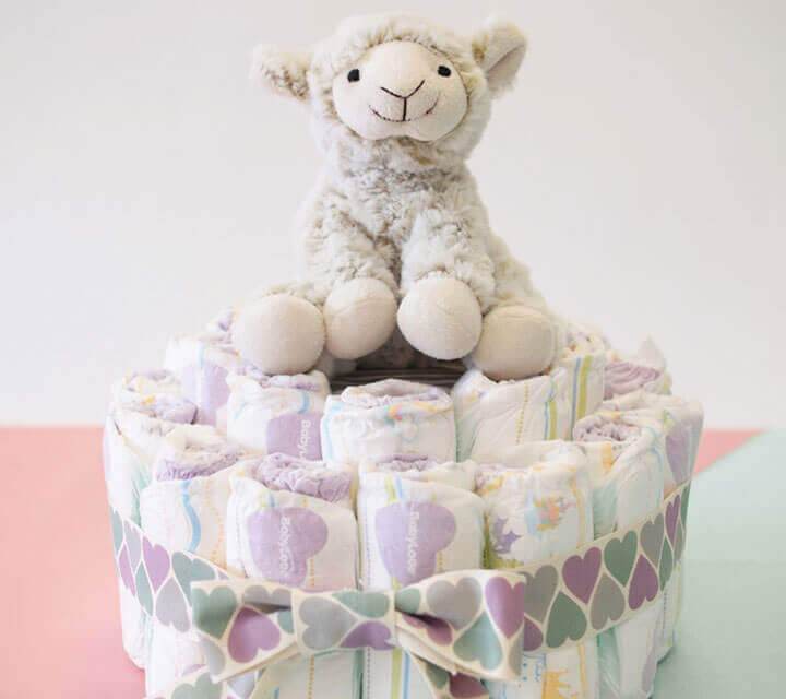 Baby Shower Decorations - Nifty nappy cake