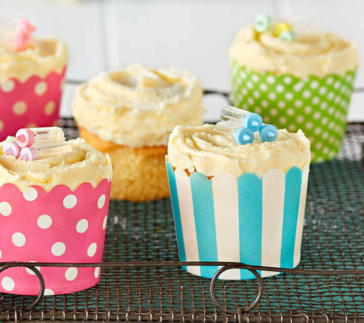 Baby Shower food ideas - Pretty Cupcakes
