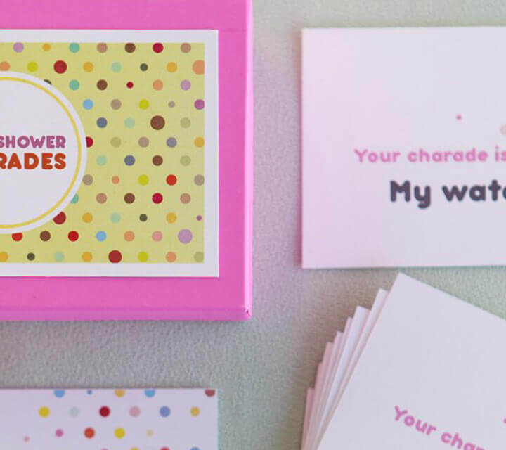 Baby Shower game ideas - Classic Charades with a twist!