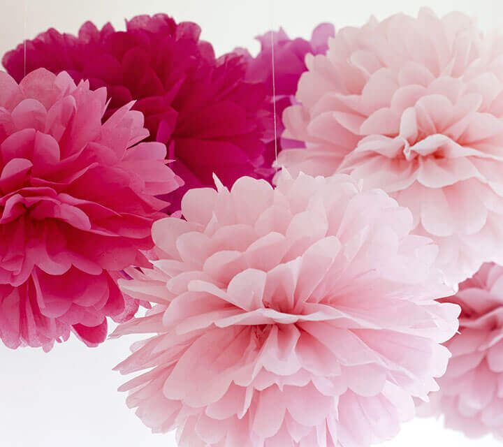 Baby Shower Decorations - Tissue Paper Pom-Poms