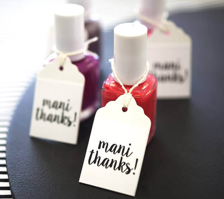 Nail Polish Favors