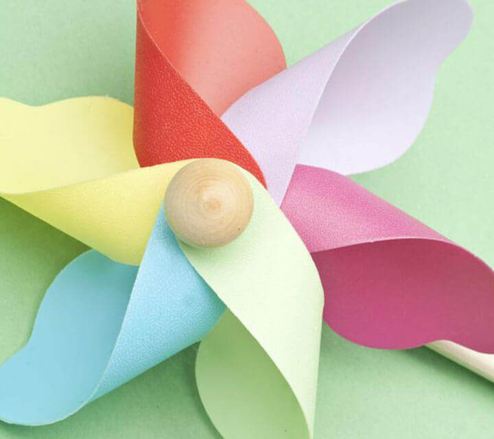 Baby Shower Decorations - Pretty Patterned Pinwheels