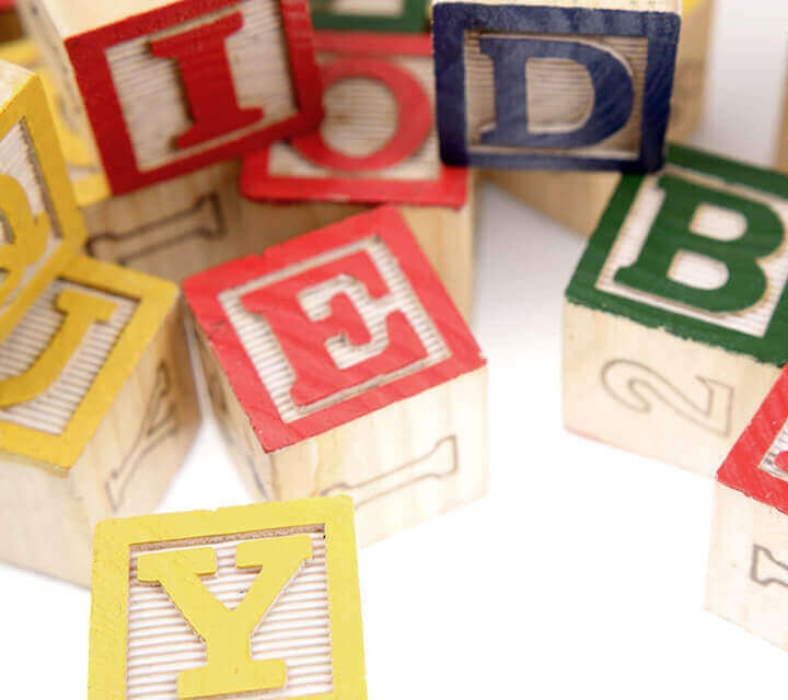 Baby Shower game ideas - Baby word building game